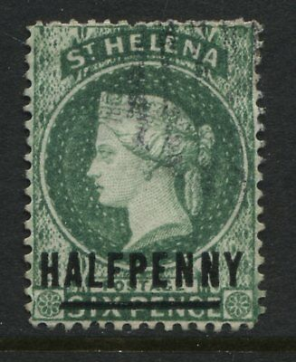St. Helena QV 1884 1/2d on 6d  green unused no gum