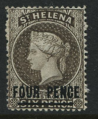 St. Helena QV 1884 4d on 6d  pale brown mint o.g.