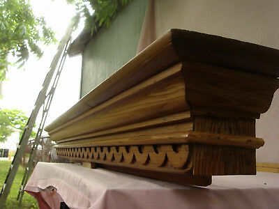 5 Foot 1860s CYPRESS Wood PEDIMENT CREST CORNICE from Old NEW ORLEANS !
