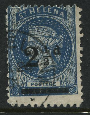 St. Helena QV 1893 2 1/2d on 6d blue used FORGERY