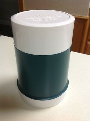 Thermos 10 oz Hot Cold Food Jar Wide Mouth Insulated Glass Vacuum Bottle Vintage