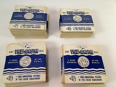 Large Collection of 110 Reels View-Master 7 More Wonders Of The World   (LOT 1)
