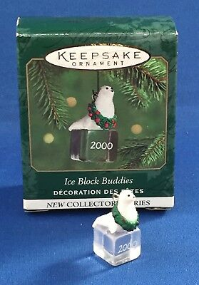 ICE BLOCK BUDDIES Seal #1 Hallmark Miniature Keepsake Ornament, 2000 New w/Tag
