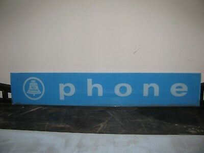 1960's Bell System Glass Telephone  Sign