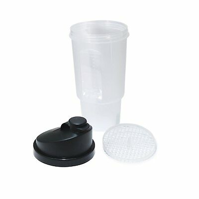 20 Oz / 600 ML Protein Shaker (Black)