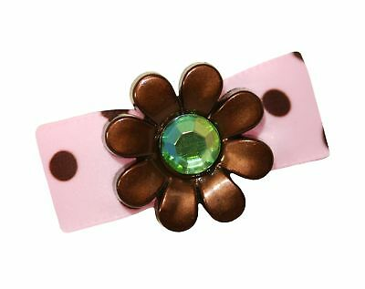 Hot Bows Chocolate Mint with a French Clip for Dogs