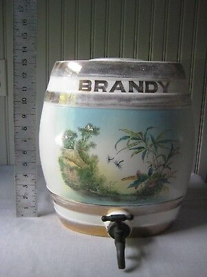 Antique Staffordshire Style Whiskey Barrel Brandy Barrel Cask Decanter Jug