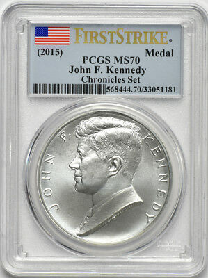 2015 1oz Silver John F. Kennedy US Mint Silver Medal NGC MS 70 FirstStrike Haze