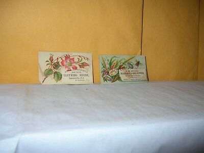 2 Victorian Trade Cards Lambertville Nj  Stockton New Jersey Goodman Pettee