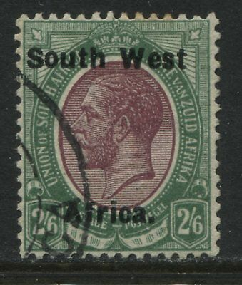 South West Africa 1924 2/6d SWA single CDS used