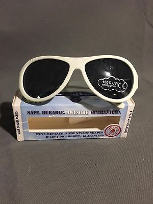 Babiators Wicked White Baby Sunglasses age 3+ Durable & Safe NEW rd