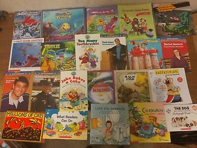Lot of 20 K-5 Scholastic Learn to Read Picture Mix Set Kid Children Book #U98 NR