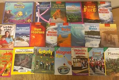 Lot of 20 Science Nature Experiment Geographic Animal Educate Children Book U95