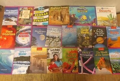 Lot of 20 Science Nature Experiment Geographic Animal Educate Children Book U94