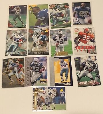 Emmitt Smith - Random Collection (13 Cards) Skybox, Fleer Metal & more