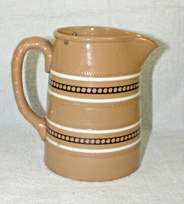 Antique Dudson English Banded Pottery Syrup Pitcher