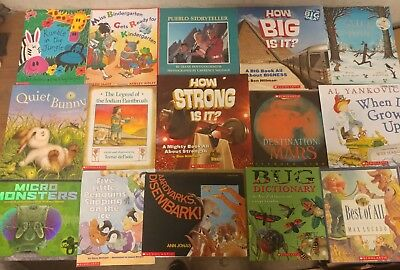 Lot of 15 Scholastic Classroom Teacher Reading Set Large Kids Books K-5 #V00 NR