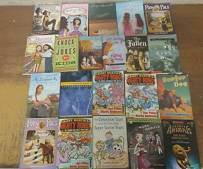 Lot of 20 Chapter Scholastic Disney RL 2 3 4 5 Child Books AR MIX UNSORTED #V05