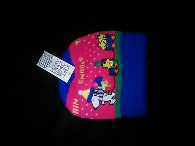 Vintage c.1958 1965 Snoopy Knit Ski Hat Winter Beanie Cap USA ORLON Acrylic