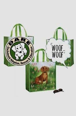 Dachshund garden tote bag benefiting Dachshund Rescue