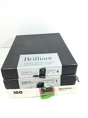3 Packs of 8x10 Photographic Paper ILFORD & ZONE VI 100 Packs Estate Sale Find
