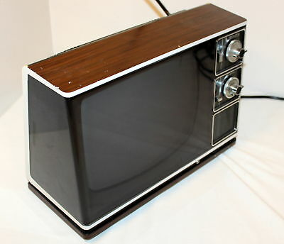 Vintage Zenith Television TV Solid State Space Age Futuristic Funky Modernist