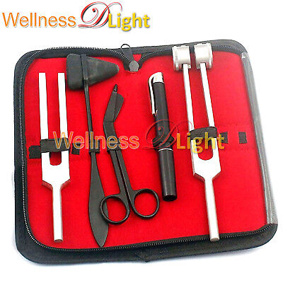 Wdl Tactical Black 5 Pcs Taylor Hammer Penlight Scissor & Tuning Fork C128, C512