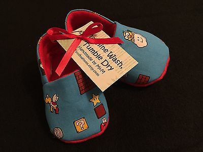 NEW Super Mario Brothers Bros Booties 0-3 Mo Gender Neutral Boy/Girl Gift Baby