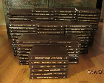 Awesome 109 Set LOUIS L'AMOUR Leatherette Hard Cover Books - NO DUPLICATES