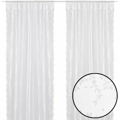 vidaXL Net Sheer Pair Curtains Drape 2 Panels Slot Top 140x225cm White Window