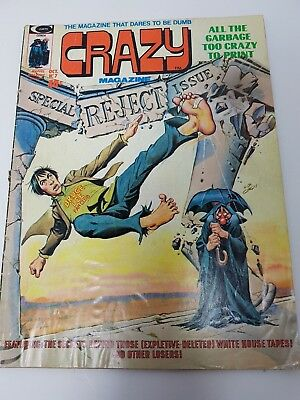 1974 CRAZY Humor Parody Magazine #7 Special Reject issue