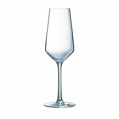 Arcoroc Juliette Champagne Flutes in Clear Made of Glass 230ml / 8oz