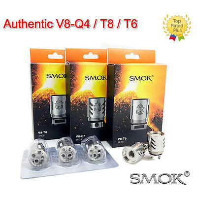 1/3PCS SMOK² TFV8 Coil Head Cloud Beast V8-T8/Q4/T6/T10 Replacement Coils