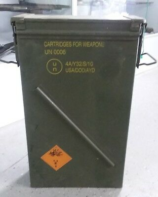 US Military Surplus 81mm M821A2 Steel Ammo Can Airtight Container 23x14x6