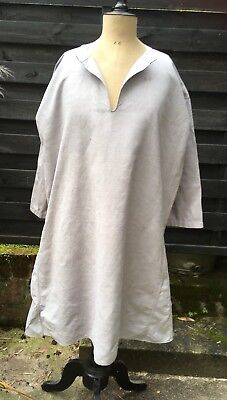 Linen French chemise chore shirt smock linen early 20th century Mono C L