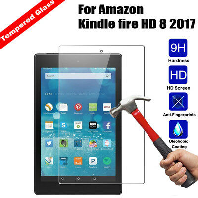 Genuine Tempered Glass HD Screen Protector For Amazon Kindle fire 7/ HD8 / HD 10