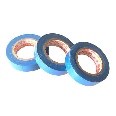 3 Pcs 17mm x 15m Insulation Electrical Adhesive Tape Flame Retardant Blue