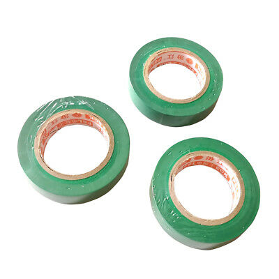 3 Pcs 17mm x 15m Insulation Electrical Adhesive Tape Flame Retardant Green