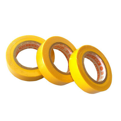 3 Pcs 17mm x 15m Insulation Electrical Adhesive Tape Flame Retardant Yellow