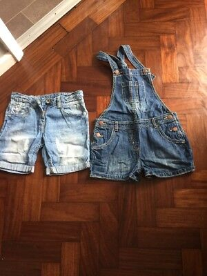 dungarees/shorts Girls Age 7 Next