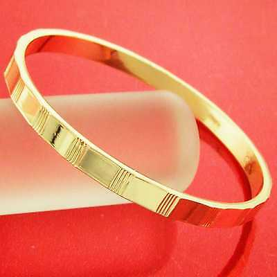 Bracelet Hinged Bangle Real 18K Yellow G/f Gold Ladies Antique Design Fs3An861