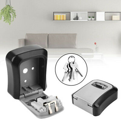 Useful 4Digit Combination Key Security Storage Box Lock Wall Mount Organizer Hot