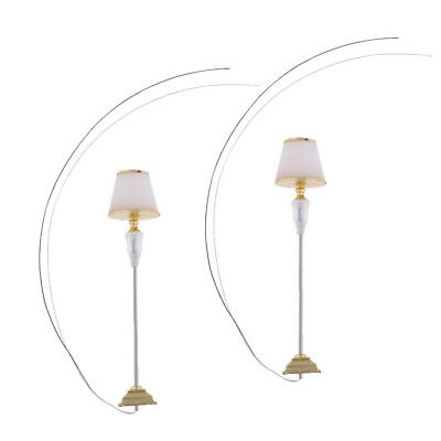 2 Pcs 1/20 Scale Floor Lamp Sand Table Accessories Architectural Material