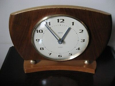 Smiths Small Quartz Mantle Clock / Excellent Working Order.