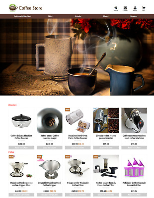 Established Coffee Store Profitable Website Business For Sale - Dropshiping