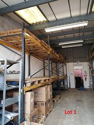 PALLET RACKING No Bolts Heavy Duty Industrial Warehouse Storage Used Shelving