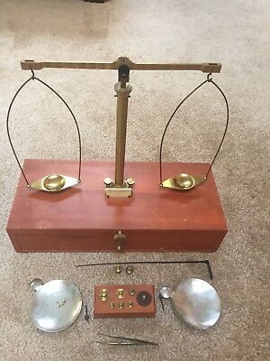 1900s Vintage Apothecary Prescription Balance Scale w/ Weight