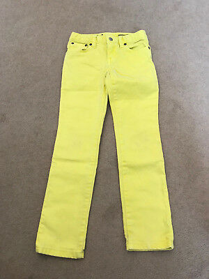 Ralph Lauren Bowery Skinny Yellow jeans trousers age 6X 5-6 years