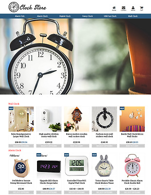 Established Clock Store Profitable Website Business For Sale - Dropshiping
