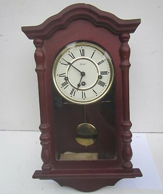 Vintage 'Hermle' Wooden Cased Wall Clock with Pendulum